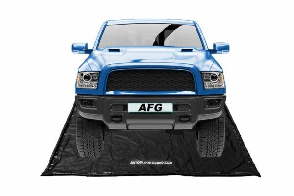 Blue Truck on Autofloorguard containment mat